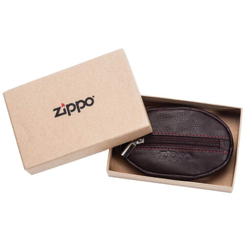 Leather Coin Purse Brown
