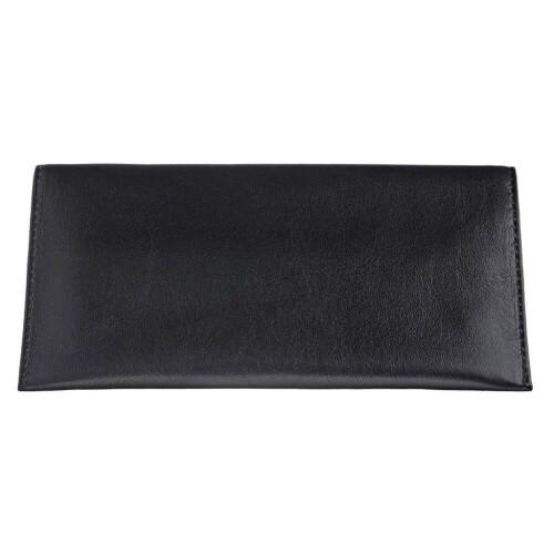 Nappa Bi-Fold Tobacco Pouch Black