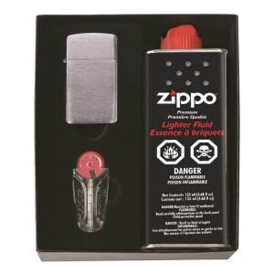 Zippo poklon set  slim sa benzinom, kremenom  upaljačem model 1600/slim